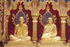 2菩萨雕象 免版税图库摄影