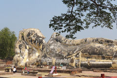 菩萨雕象ayuddhaya的泰国 库存图片