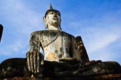 菩萨雕象sukhothai 库存照片