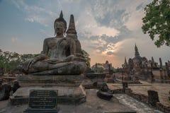 菩萨雕象Sukhothai 图库摄影
