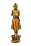 菩萨雕刻了木头 库存照片