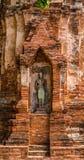 菩萨,一个美丽的古老站点在Wat玛哈作为a的那阿尤特拉利夫雷斯 免版税库存照片