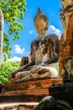菩萨,一个美丽的古老站点在Wat玛哈作为a的那阿尤特拉利夫雷斯 免版税库存图片