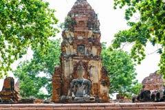 菩萨,一个美丽的古老站点在Wat玛哈作为a的那阿尤特拉利夫雷斯 库存图片