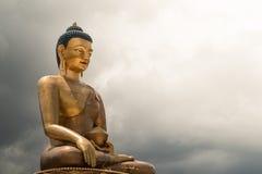 菩萨Dordenma雕象,巨人菩萨,廷布,不丹 免版税图库摄影