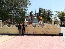菩萨Nagadeepaya寺庙在贾夫纳斯里兰卡 库存照片