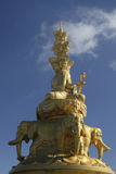 菩萨puxian雕象 免版税库存照片