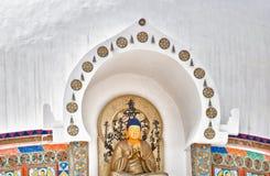 菩萨shanti雕象stupa 库存图片