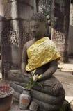 菩萨staue,吴哥城,吴哥窟,柬埔寨 免版税库存照片