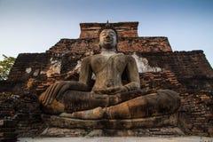 菩萨Sukhothai泰国古老雕象  图库摄影
