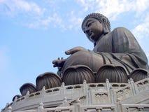 菩萨tian雕象的棕褐色 库存照片