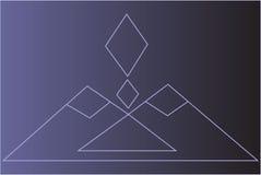 菱形图 库存例证
