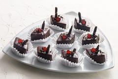 菱形巧克力糖果店 库存照片