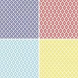 菱形无缝的样式 免版税库存照片
