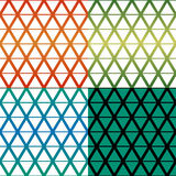 菱形模式四颜色主题 免版税库存图片