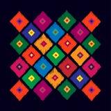 从菱形的抽象几何样式在黑背景 T 库存照片