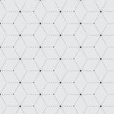 菱形破折号单色无缝的样式 免版税图库摄影