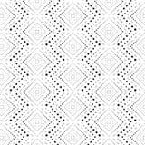 菱形破折号单色无缝的样式 免版税库存图片