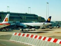 菲乌米奇诺机场-罗马市第一个机场2014年6月1日的 库存照片