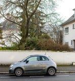 菲亚特在街道上的Cinquecento 500 免版税图库摄影