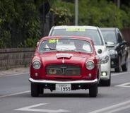 菲亚特1100/103电视coupé Pinin淀粉1955年 库存照片