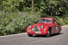 菲亚特1100 [508 C] MM Berlinetta 1938年在Mille Miglia 2016年 库存图片