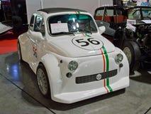 菲亚特500 monstre在米兰Autoclassica 2014年 免版税库存照片