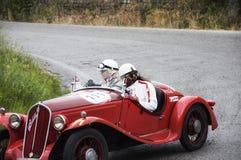 菲亚特508 S Mille Miglia Balilla体育1933年 图库摄影