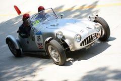 1949年菲亚特Bernardini 1100在Mille Miglia的Siluro 免版税库存图片