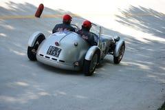 1949年菲亚特Bernardini 1100在Mille Miglia的Siluro 免版税库存照片