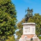 菲利普国王马雕塑IV在马德里,西班牙 复制文本的空间 库存照片