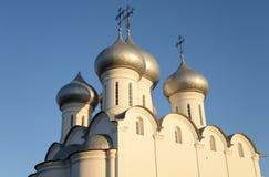索菲娅大教堂在日落的沃洛格达州 库存照片