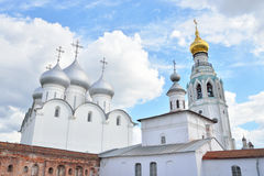索菲娅大教堂在沃洛格达州 库存图片
