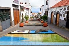 菲尔加斯, Paseo de Canarias 免版税图库摄影