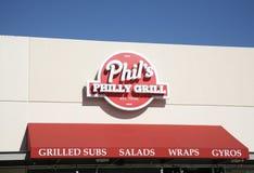 菲尔` s Philly格栅标志 免版税库存照片