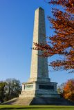 菲尼斯公园和惠灵顿纪念碑 都伯林 爱尔兰 免版税库存照片