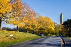 菲尼斯公园和惠灵顿纪念碑 都伯林 爱尔兰 库存照片