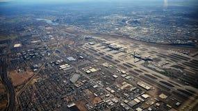 菲尼斯机场鸟景色 免版税图库摄影