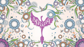 菲尼斯横幅有华丽的在背景的一个抽象花卉装饰春天框架 库存图片
