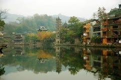 菲尼斯湖南省古老城市 库存图片