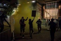 菲尼斯王牌集会抗议 免版税库存照片