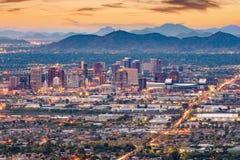菲尼斯,亚利桑那,美国都市风景 免版税库存照片