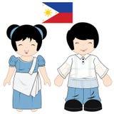 菲律宾传统服装 免版税图库摄影