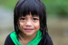 菲律宾女人小女孩 库存图片
