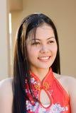 菲律宾女人微笑 库存图片