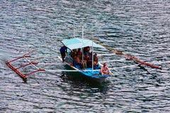 菲律宾小船在海, El Nido,菲律宾 免版税库存照片
