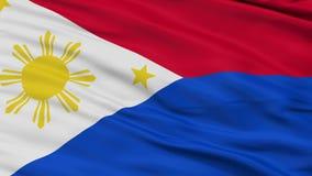 菲律宾战争旗子特写镜头无缝的圈 股票录像