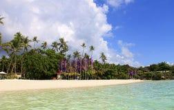 菲律宾热带天堂海滩 库存照片