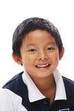 菲律宾男孩微笑 免版税库存图片