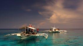 菲律宾的小船 免版税库存照片
